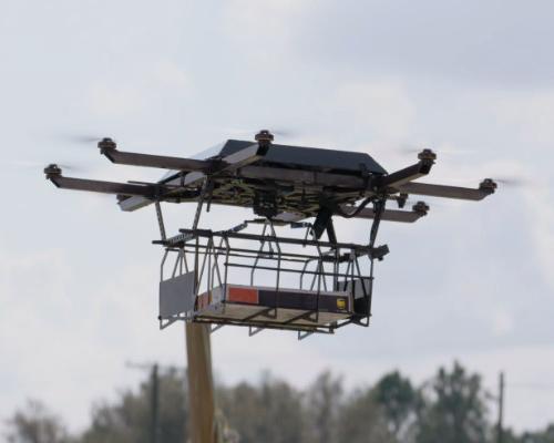 UPS公司用货车释放全自动起降无人机送快递