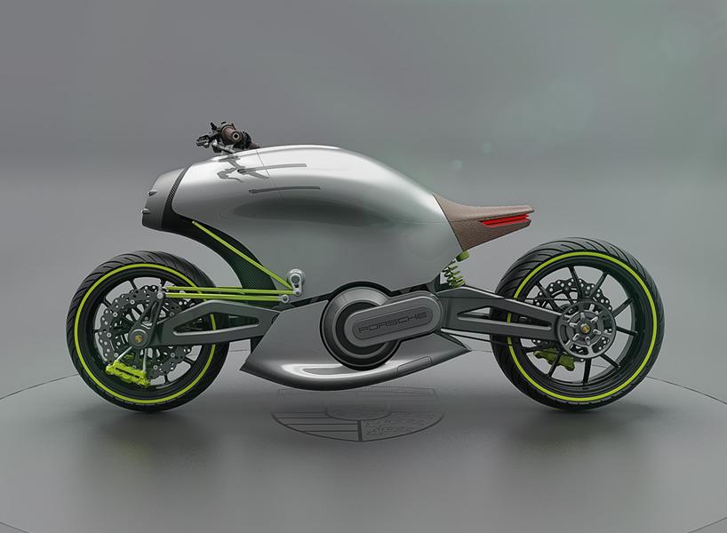 """保时捷(Porsche),又叫波尔舍,是欧美汽车的主要代表,也是闻名世界的汽车公司。1931年成立于斯图加特,以生产高级跑车闻名于世界车坛。西班牙设计师Miguel Angel bahri为保时捷摩托车项目命为""""两轮项目"""",受保时捷911涡轮增压的影响,以及""""918""""和""""919""""的启发,设计师已经从这些标志性的汽车中获取了品牌设计DNA,并将其移植到他的概念摩托车中。他将新车命名为""""618"""",因为它代表了位于&"""