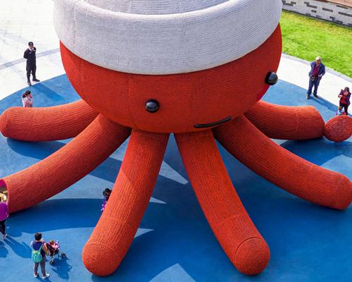 深圳公园里可爱的大章鱼