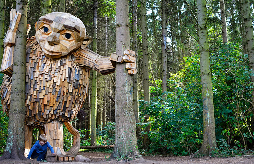 探秘丹麦树林里6个神秘的巨人