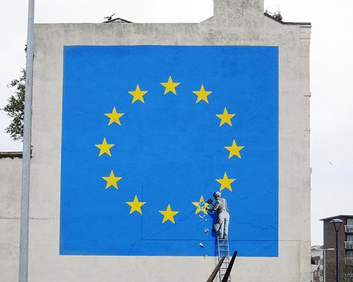 banksy为欧盟现状创作的壁画