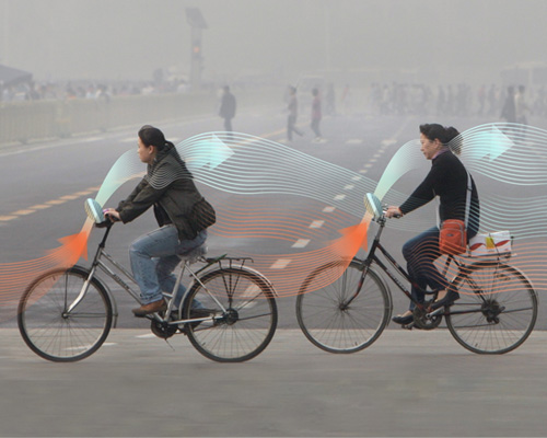罗斯加德工作室推出雾霾净化自行车