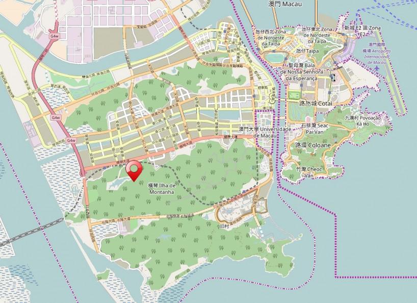 中国珠海横琴天湖酒店项目, by Aedas_11_地图 © OpenStreetMap contributors