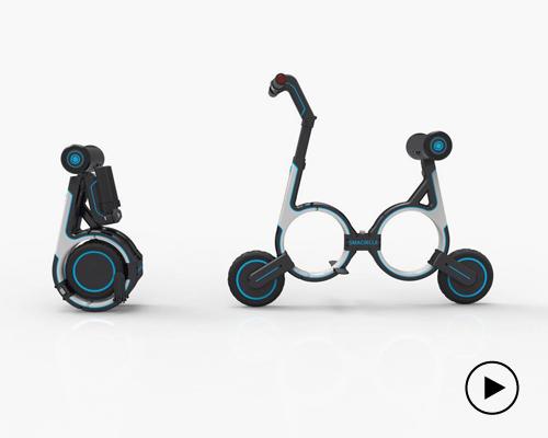 Smacircle 公司推出全球首款可以放入背包的折叠电动车S1