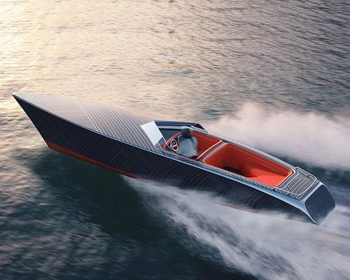 极简风格木质电动游艇zebra
