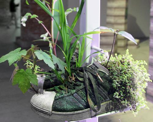 威尼斯双年展上的鞋子花盆