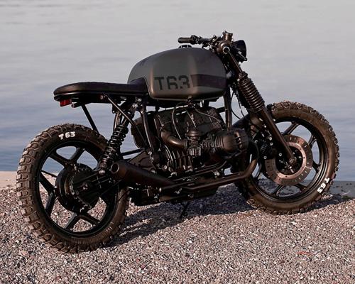 瑞士angry motors改装车厂推出全黑的咖啡馆风格改装车T63