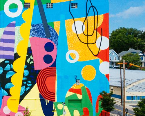 HENSE在马里兰创作的巨型彩色壁画