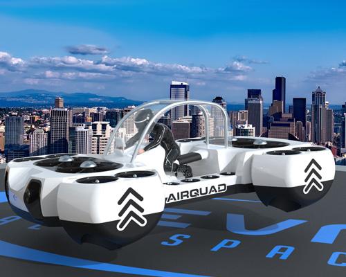 未来的飞行四轮摩托车AirQuadOne