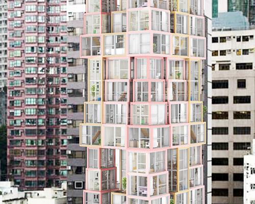 香港垂直住宅|塔中塔
