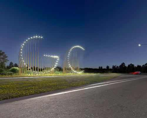 澳大利亚黄金海岸的灯光艺术作品