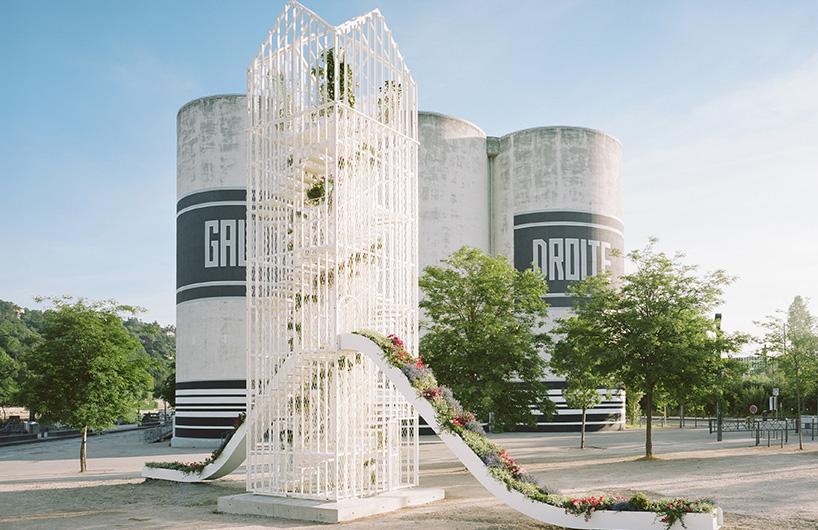 """为首届里昂建筑双年展设计的""""花亭"""""""