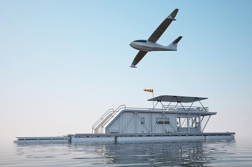 能停靠水上飞机的新型游艇hydrohouse_设计邦-全球和