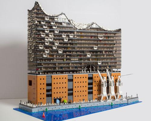 20000块乐高砖组成elbphilharmonie音乐厅模型 超多细节超精细