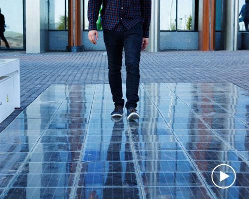 Platio 推出人行道太阳能电池板