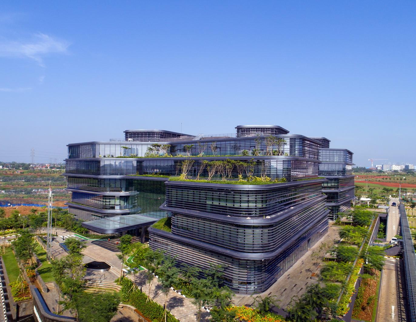 二层平面图 ▲手绘图 项目名称:联合利华总部大楼 位置:印度尼西