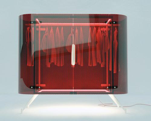 会发光的透明衣柜趣味与品位可以兼得