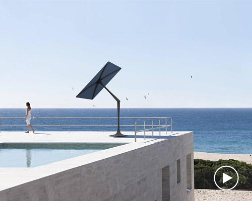 世界首款可以追踪太阳的Sunflower智能庭院伞