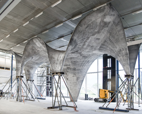 苏黎世联邦理工学院开发超薄弯曲混凝土屋顶的建造方法