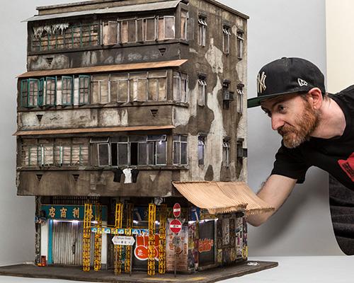 艺术家1:20的比例还原香港街头的老房子