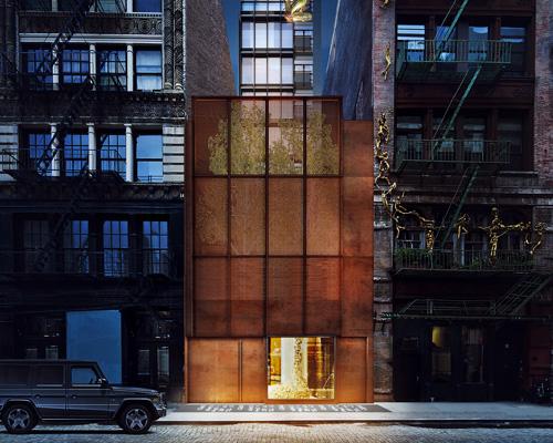 隐藏在钢板墙后的艺术综合住宅