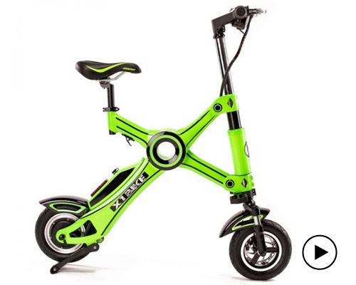 X1探险者电动自行车 小巧轻便一秒折叠