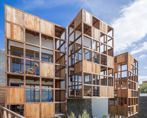 非洲小岛上的木格阳台旅馆