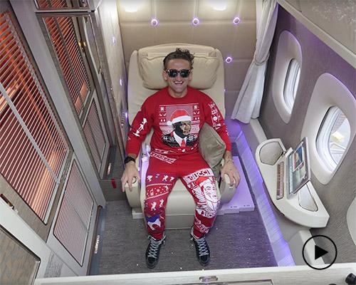 油管红人带您体验超豪华阿联酋航空头等舱套房