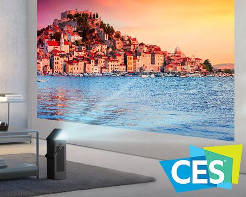 CES 2018:LG便捷式4K投影机可在任何房间内设置150英寸的屏幕