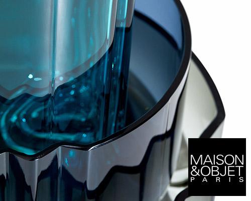 zaha hadid design玻璃系列作品pulse亮相巴黎家居装饰博览会