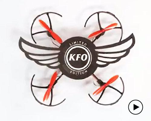 肯德基推限量版烟熏烤翅桶包装竟是无人机KFO
