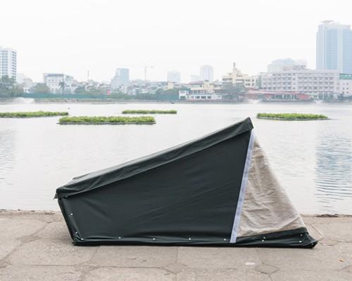 为无家可归者设计的单人帐篷made