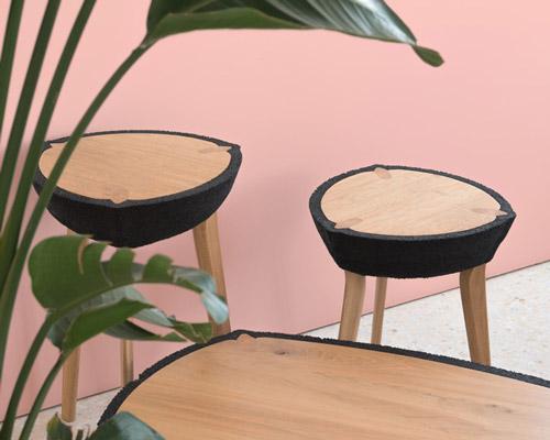 fikra桌子系列 展现自然与人造材料的完美平衡