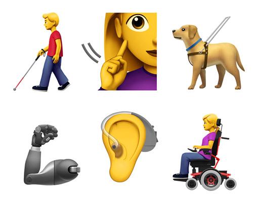 苹果公司提议13个代表残疾人的新表情符号