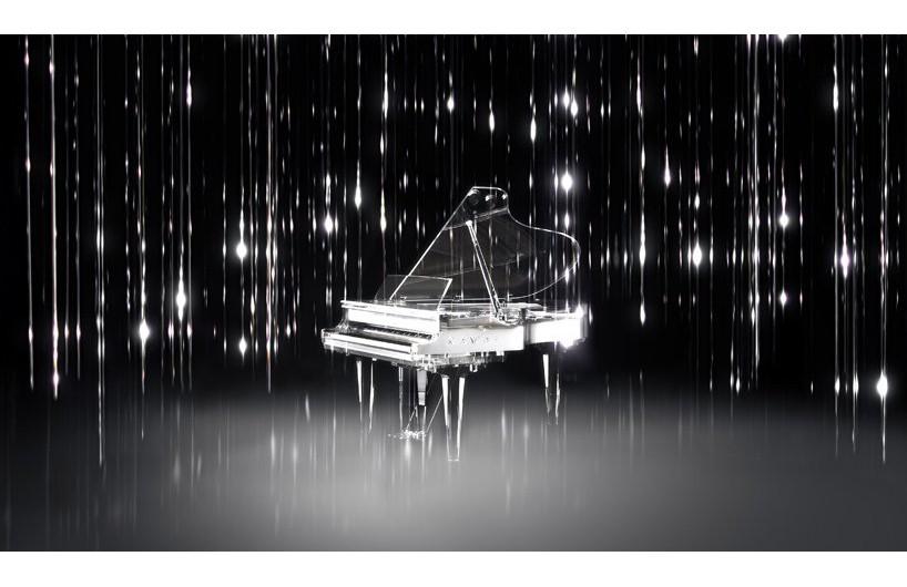 kawai水晶三角钢琴亮相米兰设计周