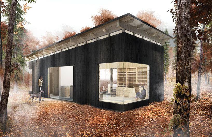 位于纽约城郊的catskill小屋 营造新式现代乡村风