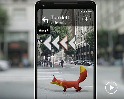 谷歌地图加入增强现实功能小狐狸给你带路
