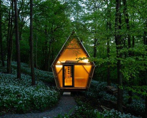木材与施工废料建成小屋 成本较低可移动