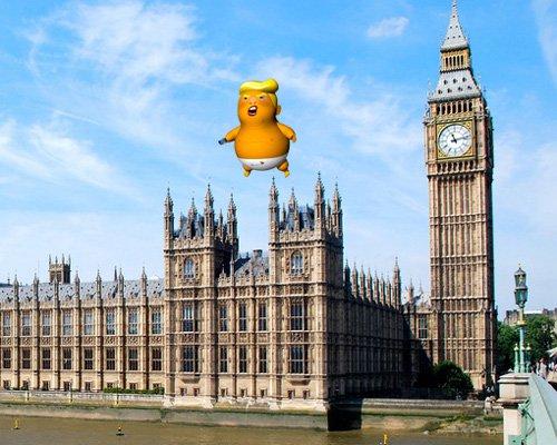 美总统下周访英 巨婴特朗普气球来迎接
