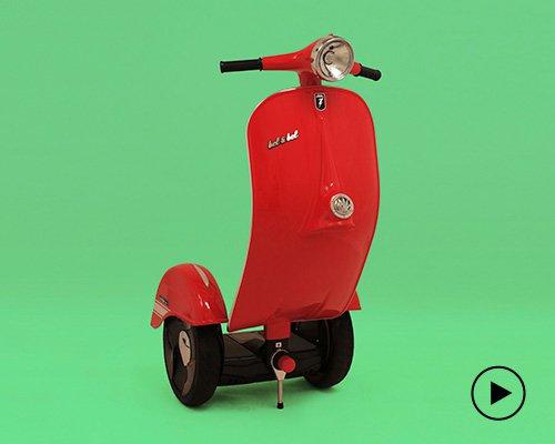 Vespa踏板摩托外形的电动平衡车
