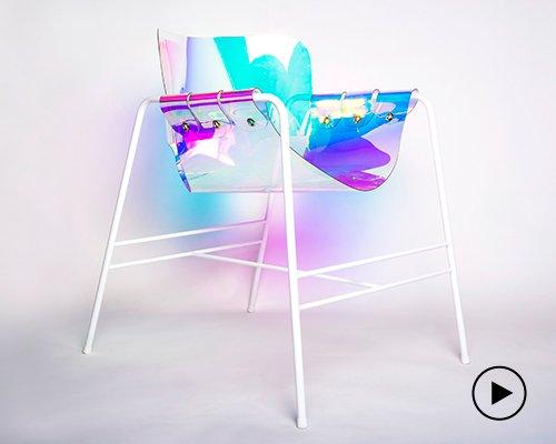披着彩虹偏光透明外衣的光之座椅