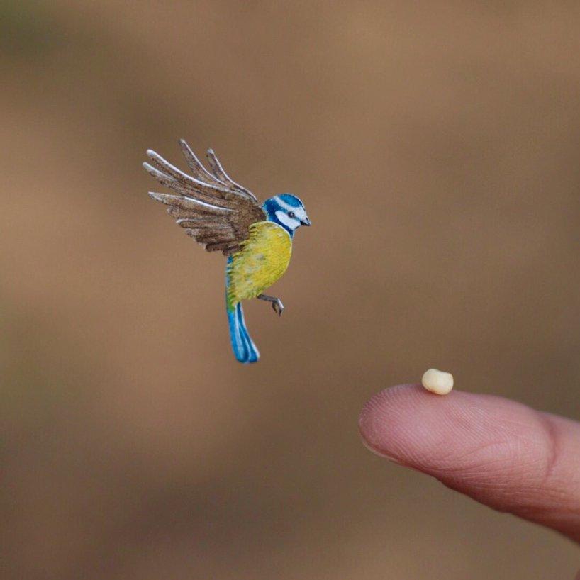 小鸟剪纸与雕塑