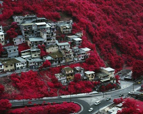 vicente muñoz关于城市与自然的红外摄影