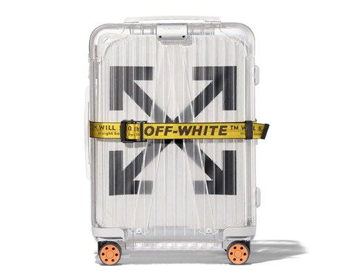 off-white X rimowa联名透明行李箱再推新款