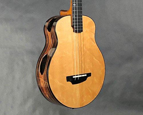 音孔设在侧面的新型吉他