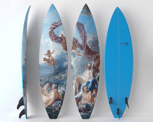boom-art & UWL全新联名系列 踩着名画去冲浪