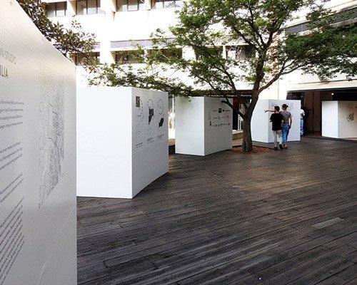 悉尼大学建筑毕业展装置 连接室内外空间