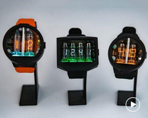 超强未来感的数字管复古手表