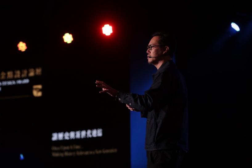 """新加坡Asylum创办人克里斯.李(Chris Lee),以""""让历史与新世代连结""""为讲题。"""