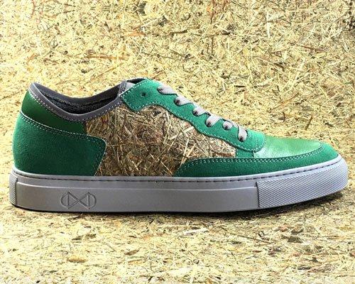 干草与塑料瓶制成100% vegan运动鞋